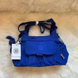 New! KIPLING Felix Large Blue Crossbody Handbag